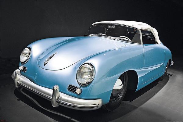 Porsche speedster - oldtimer Poster