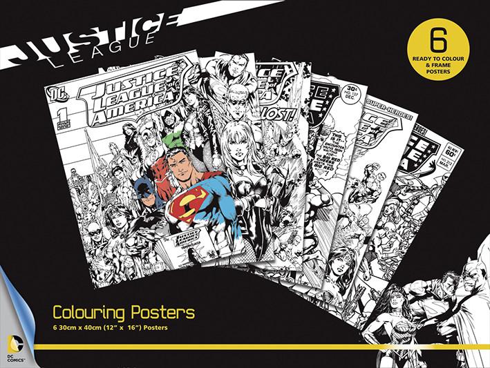 Poster da colorare  DC Comics - Justice League