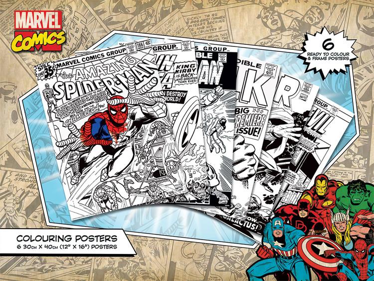 Poster da colorare Marvel Comics - Covers