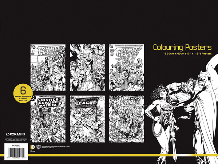 Poster para colorear DC Comics - Justice League