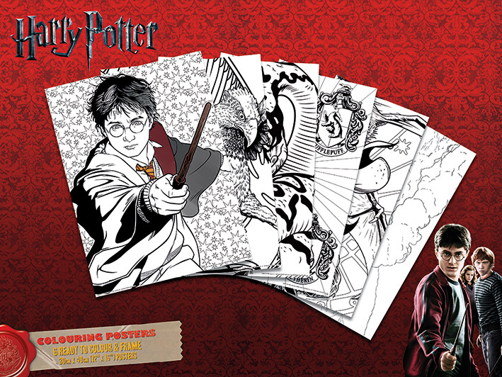 Posters para colorear Harry Potter - Hogwarts