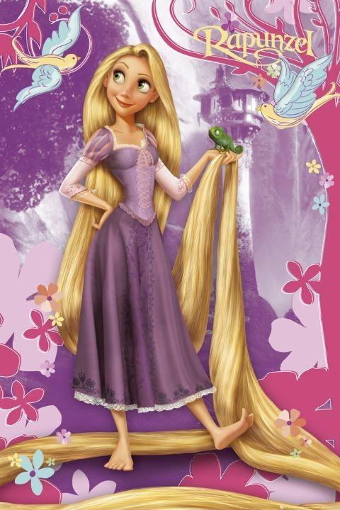 Poster PRINCIPESSE DISNEY - rapunzel