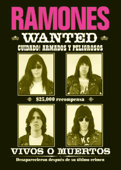 Poster Ramones - wanted