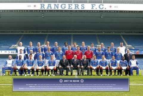 Rangers - Team photo 07/08 Poster