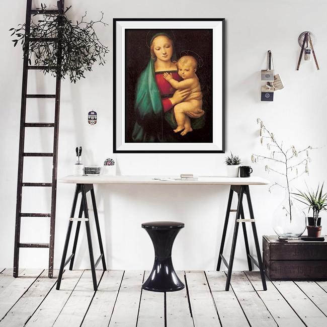 Raphael Sanzio - The Madonna del Granduca, 1505 Kunstdruk