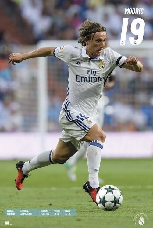 Póster Real Madrid 2016/2017 - Luka Modrić