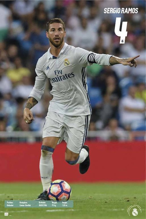 Póster Real Madrid 2016/2017 - Sergio Ramos Accion