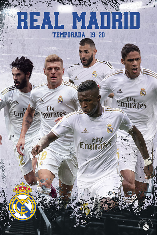 Póster  Real Madrid 2019/2020 - Grupo