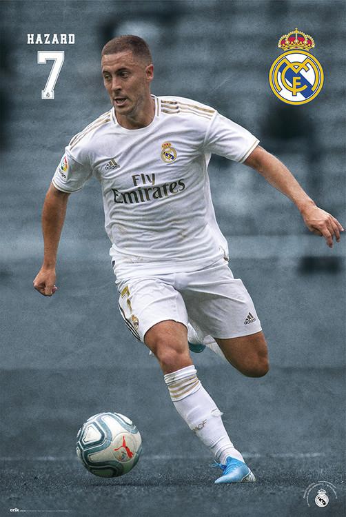 Póster  Real Madrid 2019/2020 - Hazard
