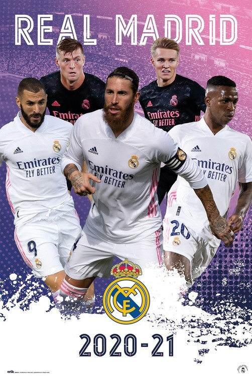 Póster Real Madrid - Group 2020/2021