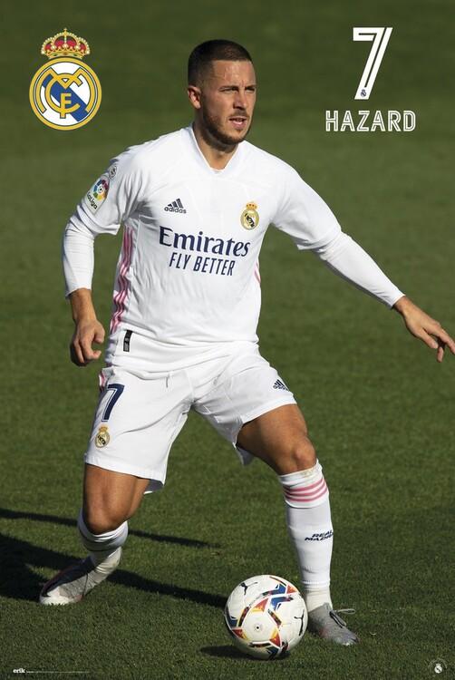Póster Real Madrid - Hazard 2020/2021