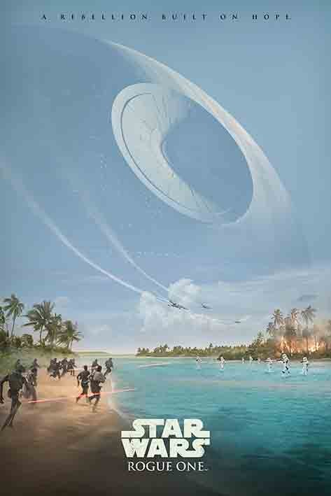 Póster Rogue One: Una Historia de Star Wars - A Rebelion Built On Hope