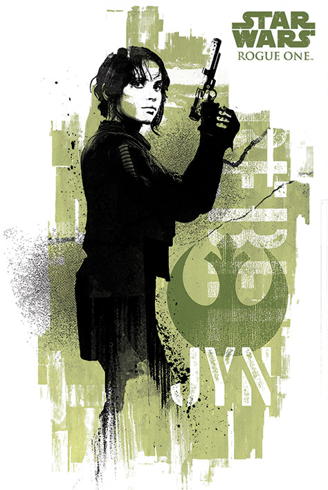 Póster Rogue One: Una Historia de Star Wars - Jyn Grunge