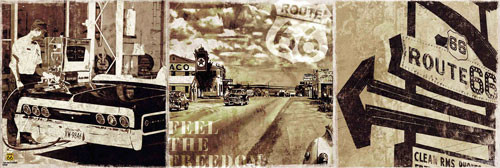 ROUTE 66 - along the road Poster / Kunst Poster