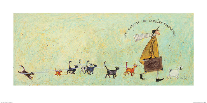 Sam Toft - The Suitcase of Sardine Sandwiches Kunstdruk