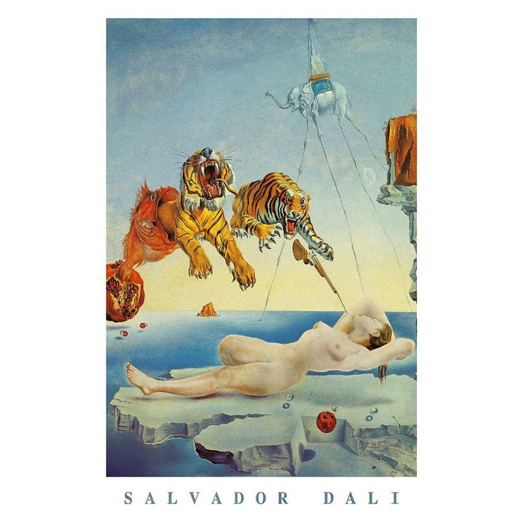 Savador Dali - Dream Caused By A Bee Flight Poster, Plakat | 3+1 ...