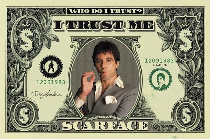 Póster  SCARFACE - dollar