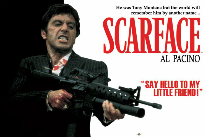 Gallery For > Scarface Poster With Gun Al Pacino Scarface