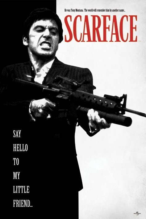 Bestel De Scarface Say Hello To My Little Friend Poster Op