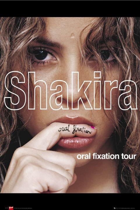 Póster  Shakira - oral fixation tour