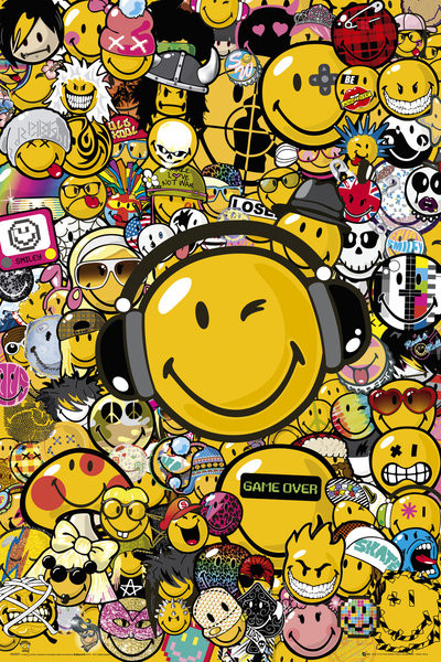 Póster Smiley - Tribal Styles