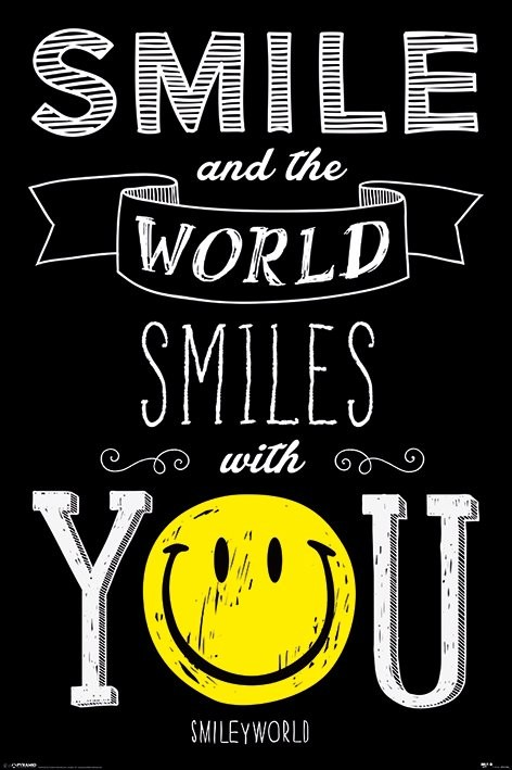 Póster  Smiley - World Smiles WIth You