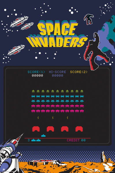 Póster Space Invaders - Screen