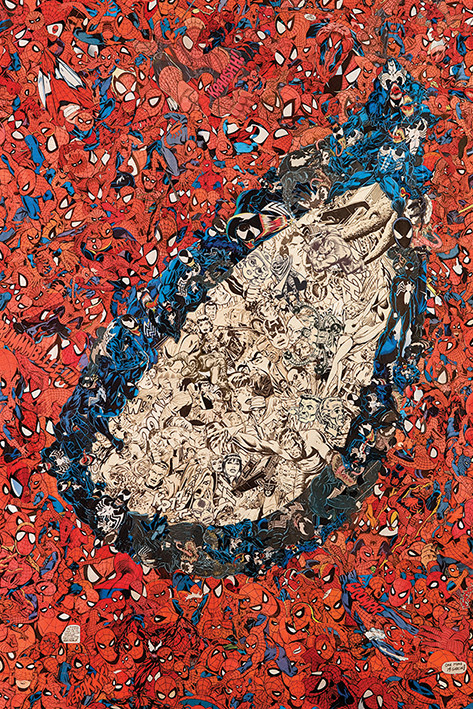 Poster Spider-Man Eye Montage