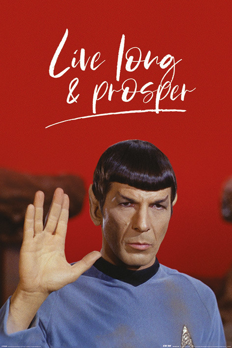 Poster Star Trek - Live Long and Prosper