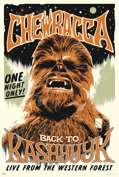 Star Wars -  Chewbacc back to Kashyyyk Poster