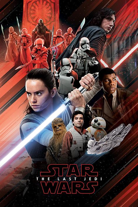 Star Wars: Die letzten Jedi - Red Montage Poster, Plakat | 3+1 ...