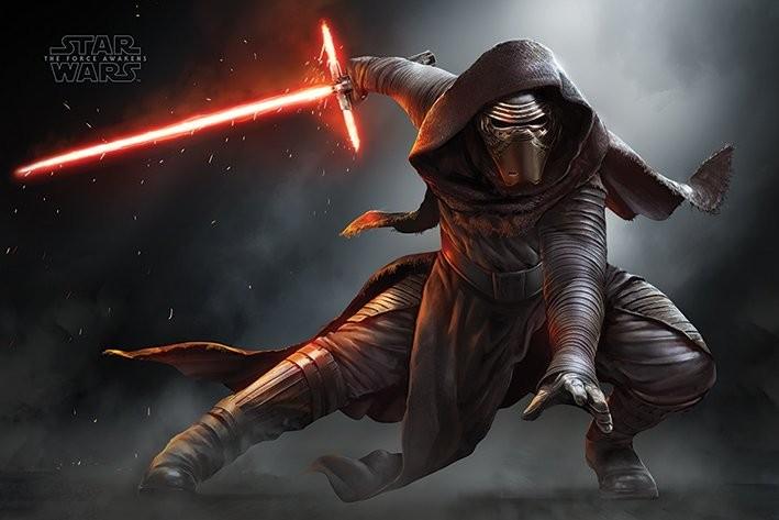 Star Wars Episode Vii Das Erwachen Der Macht Kylo Ren Crouch Poster Plakat 3 1 Gratis Bei Europosters