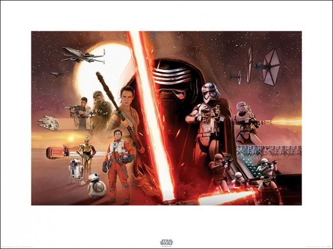 Star Wars Episode VII: The Force Awakens - Galaxy Kunstdruk