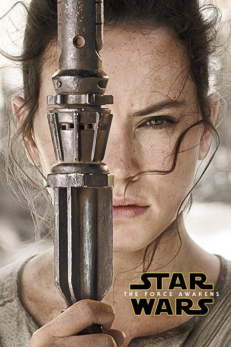 Poster Star Wars, Episodio VII : Il risveglio della Forza - Rey Teaser