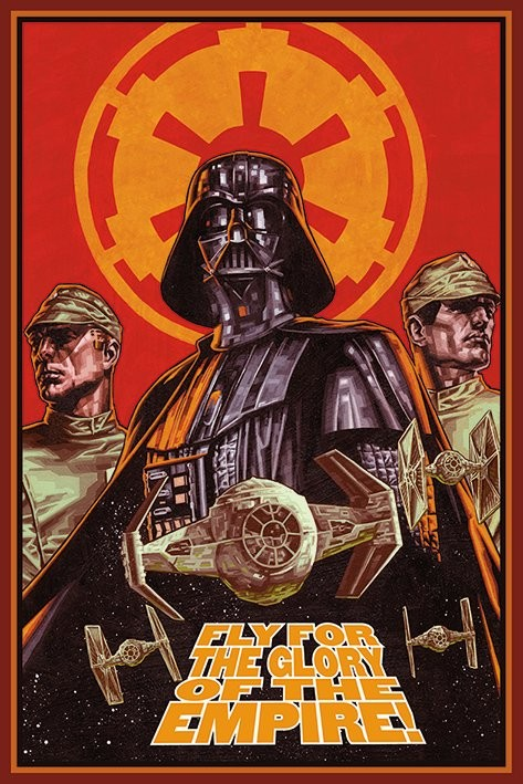 Póster STAR WARS - fly for the glory