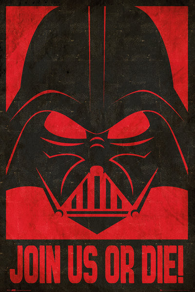 Poster STAR WARS - join us stencil