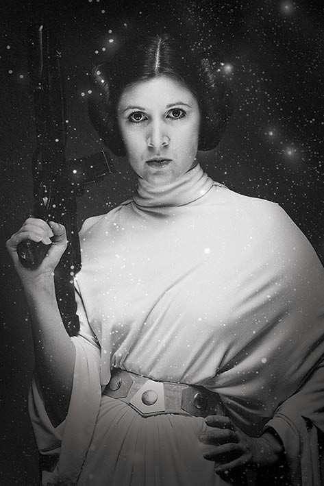 Póster Star Wars - Princess Leia Stars