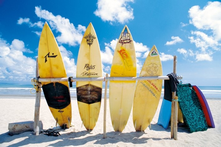Póster Sun sea & surf
