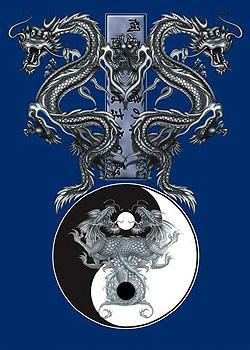 Poster Tao dragons – b&w dragons