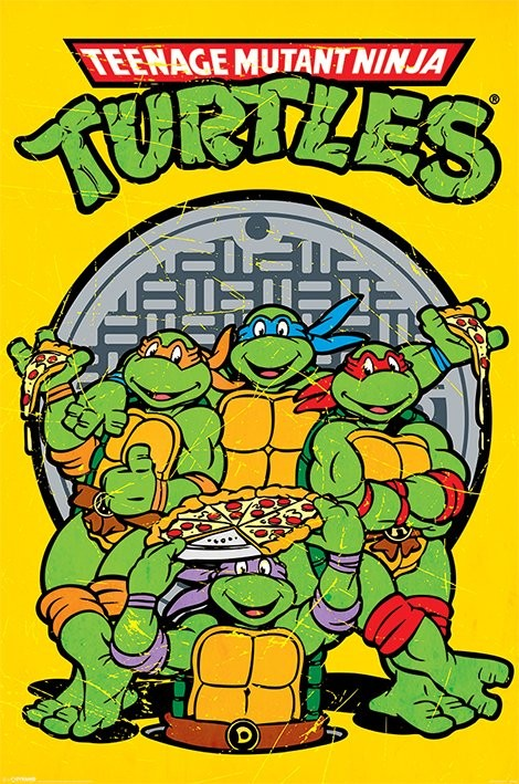 Bestel De Teenage Mutant Ninja Turtles Retro Poster Op Europostersnl