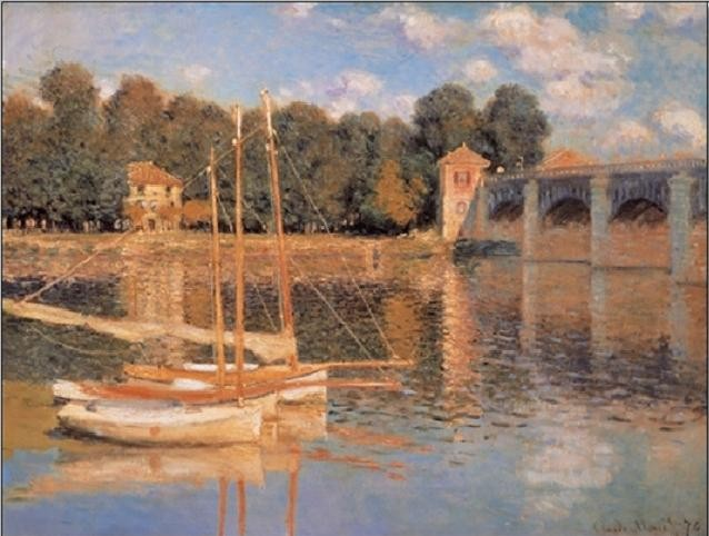 The Argenteuil Bridge, 1874 Kunstdruk