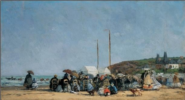 The Beach at Trouville Kunstdruk