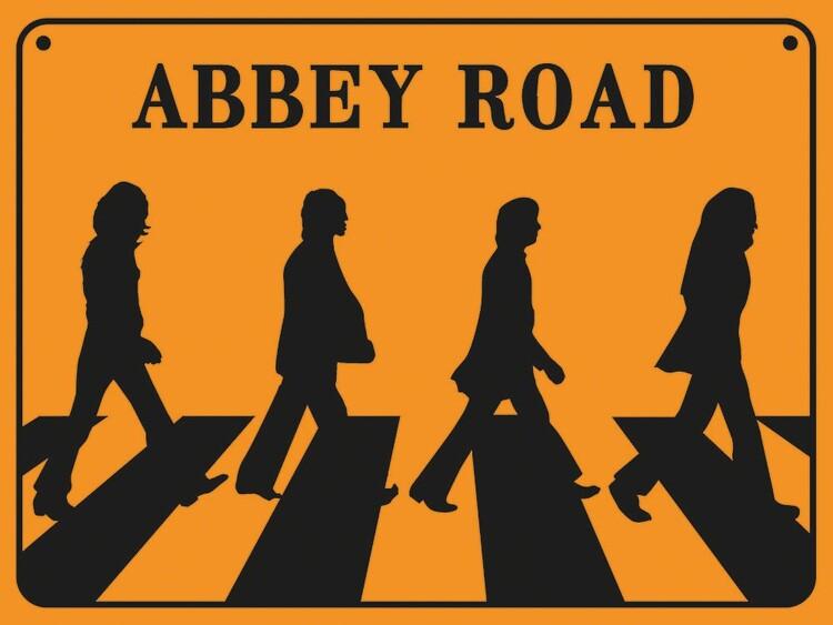 The Beatles - Abbey Road Kunstdruk