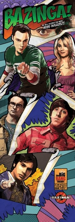 The Big Bang Theory - Comic Bazinga Poster