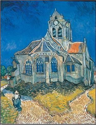 The Church at Auvers, 1890 Kunstdruk