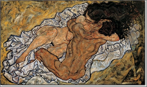 The Embrace (Lovers II), 1917 Kunstdruk