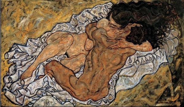 The Embrace (Lovers II), 1917 Kunstdruk