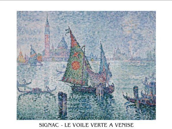 The Green Sail, Venice, 1902 Kunstdruk