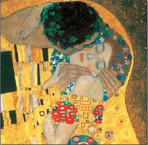 The Kiss (part) Kunstdruk