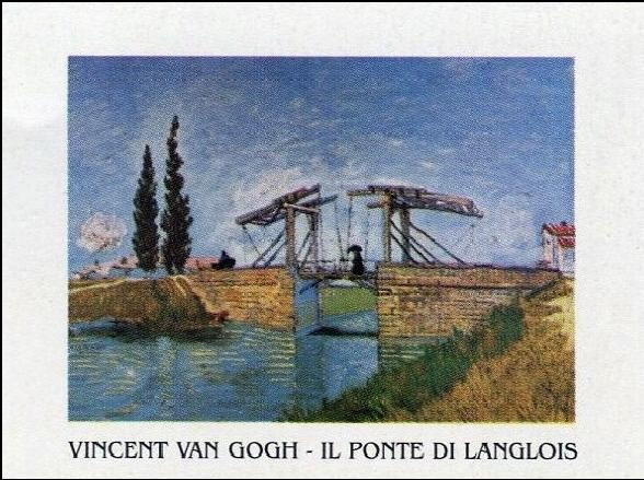 The Langlois Bridge at Arles, 1888 Kunstdruk